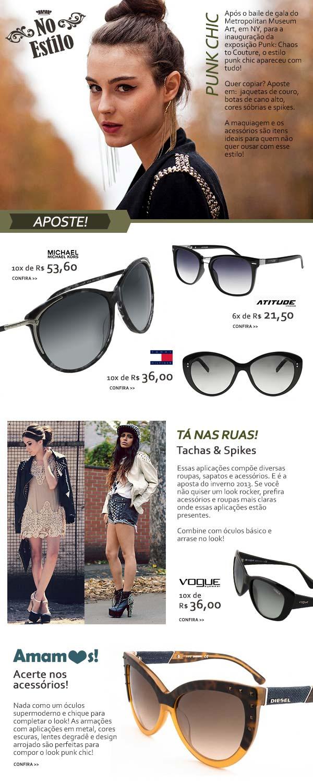 E-mail marketing informativo sobre a tendência Glamour Punk em roupas e acessórios