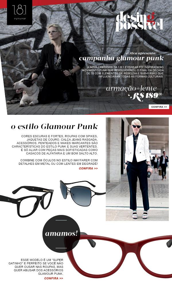 E-mail de lançamento para a marca 1.8.1 Eyewear
